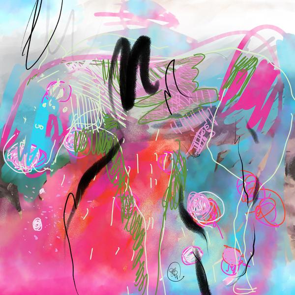 Summer Resort Abstract  Digital Download