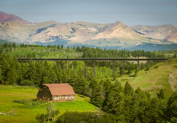 Barn at Two Medicine River Bridge by Scene Again Images: Photography by Cliff Davis