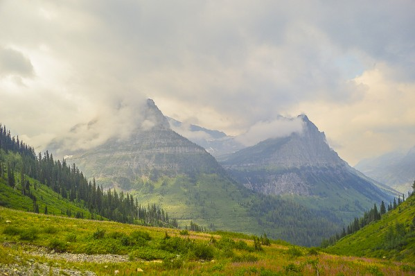 Clouds on Logan Pass by Scene Again Images: Photography by Cliff Davis