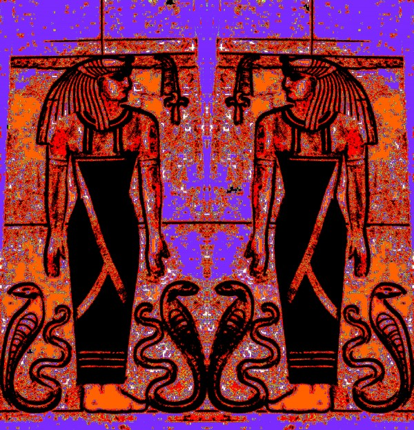 Egyptian Priests And Snakes In Garden 1 Digital Download