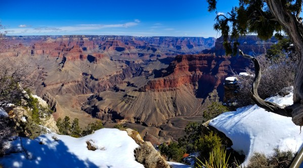 Grand Canyon S Rim w snow2  by Creative Endeavors - Steven Oscherwitz