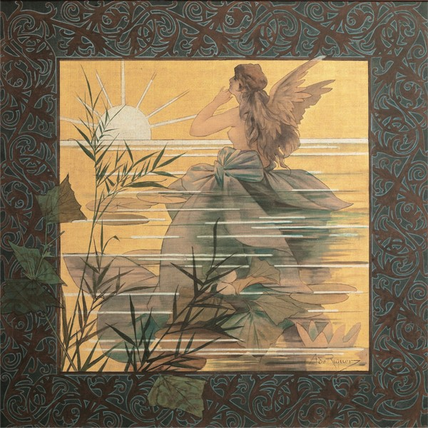 Alexandre-de-Riquer---Winged-nymph-at-sunrise  Print