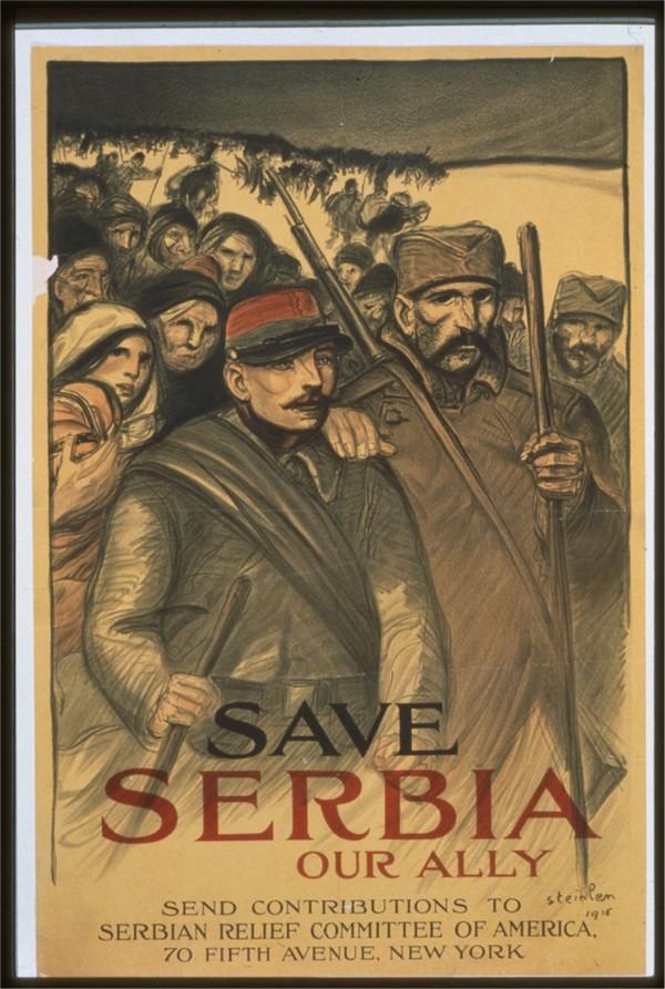 Vintage---Save-Serbia  Print
