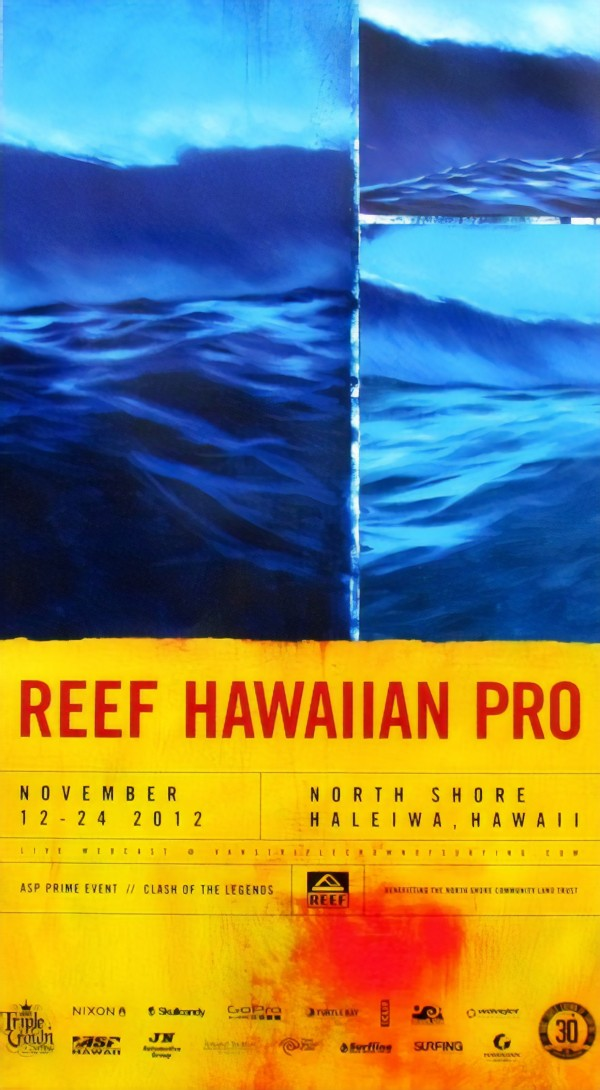 2012 REEF HAWAIIAN PRO Surfing Competition Print by Surf Posters