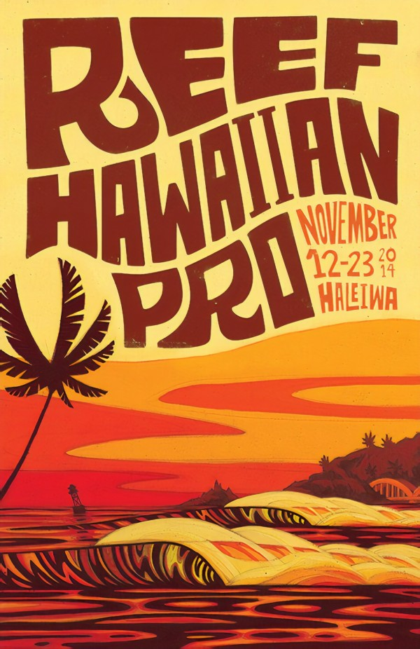 2014 REEF HAWAIIAN PRO Surf Competition Poster by Surf Posters