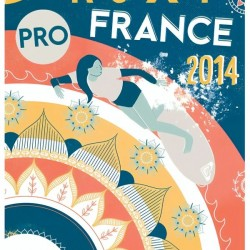 2014 ROXY PRO FRANCE Surfing Competition Print by Surf Posters