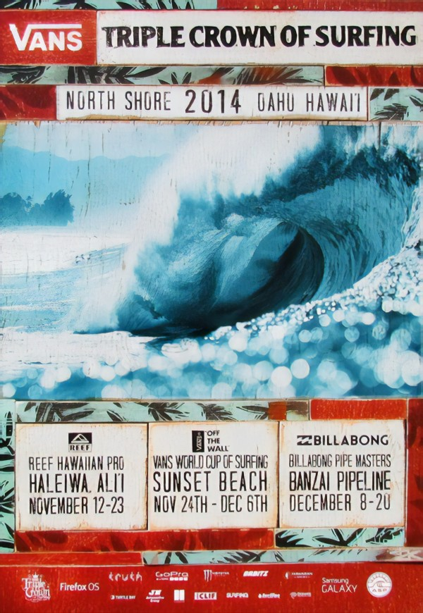 2014 VANS TRIPLE CROWN OF SURFING Competition Print by Surf Posters