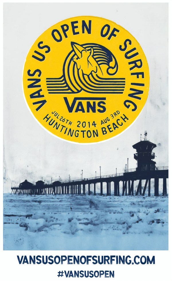 2014 VANS U.S. OPEN TRIPLE CROWN OF SURFING Competition Poster by Surf Posters