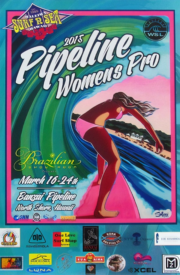 2015 PIPELINE WOMENS PRO Surfing Competition Print by Surf Posters