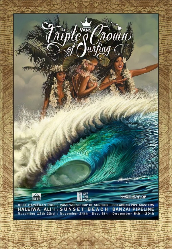 2015 VANS TRIPLE CROWN OF SURFING Competition Print by Surf Posters