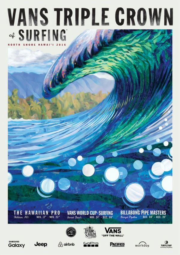 2016 VANS TRIPLE CROWN OF SURFING Competition Poster by Surf Posters