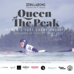 2018 BILLABONG QUEEN OF THE PEAK Surf Contest Competition Print by Surf Posters