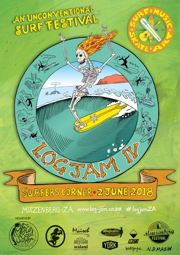 2018 LOG JAM IV Surf Print by Surf Posters