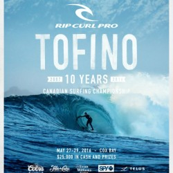 2016 RIP CURL PRO TOFINO Surfing Competition Print by Surf Posters