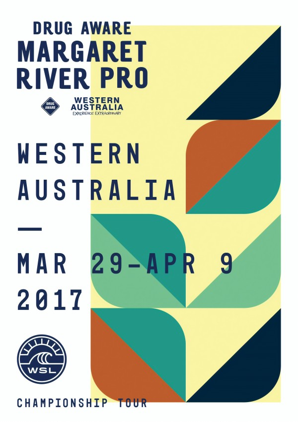 2017 DRUG AWARE MARGARET RIVER PRO Print - Western Australia - Surfing Poster by Surf Posters