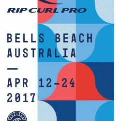 2017 RIP CURL PRO BELLS BEACH Surf Competition Print by Surf Posters