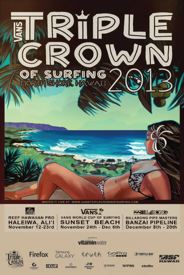 2013 VANS TRIPLE CROWN OF SURFING Competition Print by Surf Posters