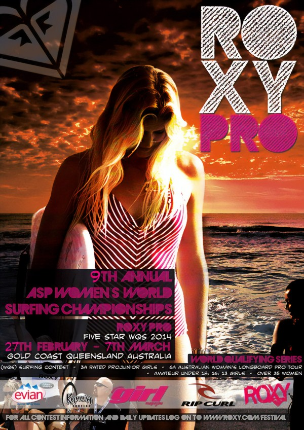 2014 ROXY PRO Surfing Competition Print by Surf Posters