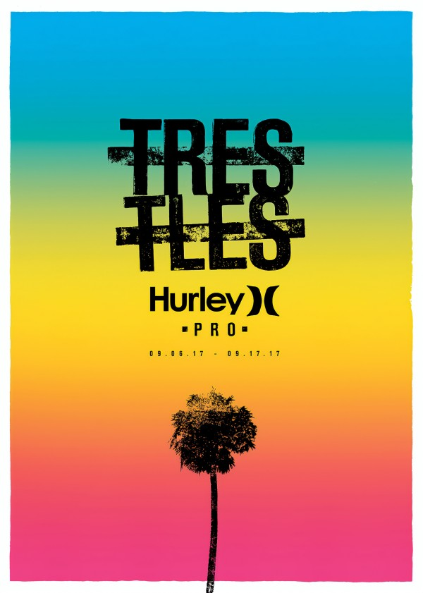 2017 HURLEY PRO TRESTLES Surf Competition Print by Surf Posters