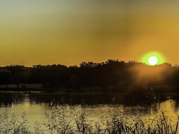 Lake Sunrise In Orange by Susan Diann Photography