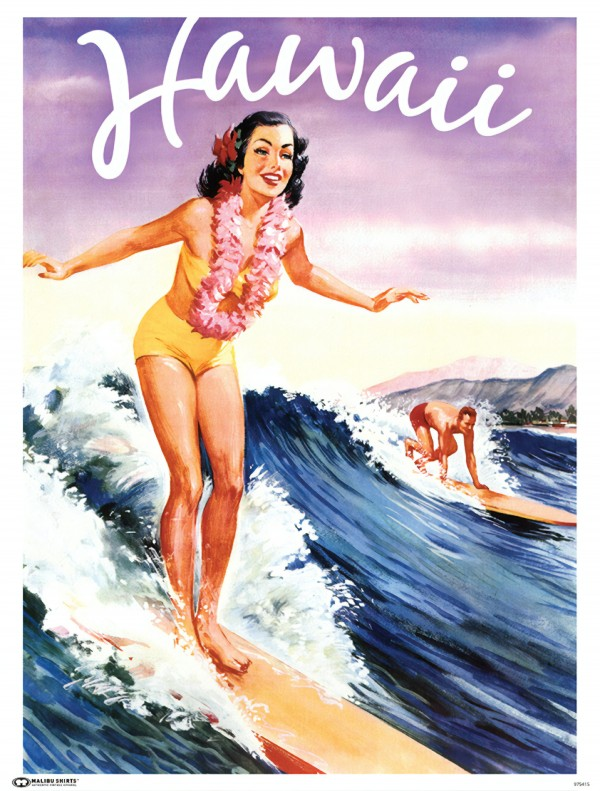 HAWAII TRAVEL POSTER by CLASSIC PRINT COMPANY