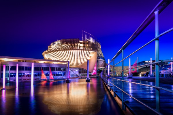 Montreal Casino At Night by Telly Goumas