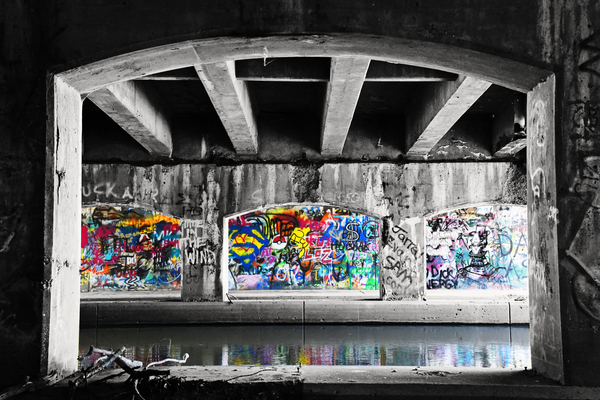 Graffiti Bridge by Photo Art Unlimited