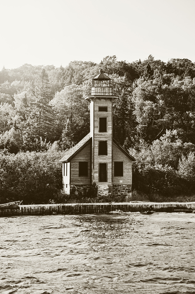 Old Grand Island Lighthouse by Photo Art Unlimited