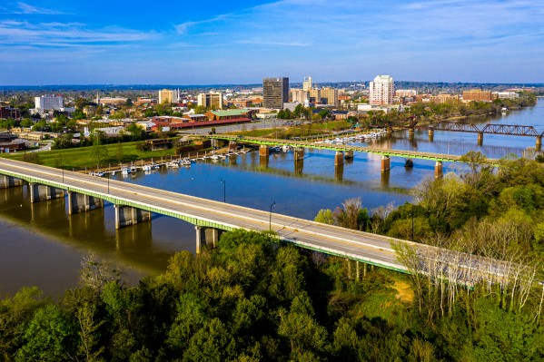 Aerial View of the Savannah River and Downtown Augusta 0322 by @ThePhotourist