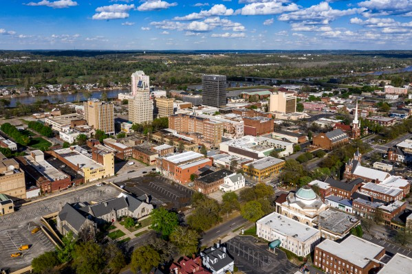 Downtown Augusta Aerial View 0421 by @ThePhotourist