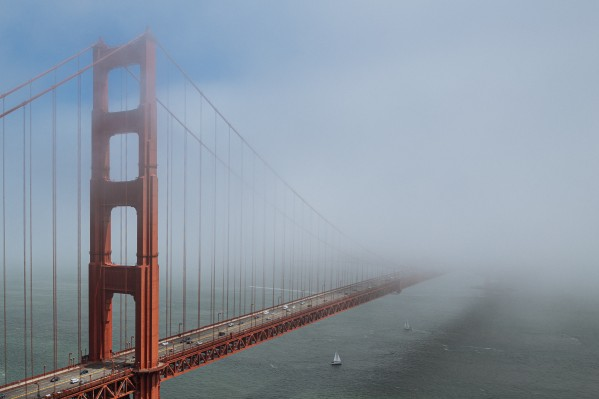 Golden Gate Bridge Disappearing into the Fog 1783 by @ThePhotourist