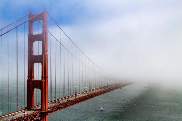 Golden Gate Bridge Disappearing into the Fog 1784 by @ThePhotourist