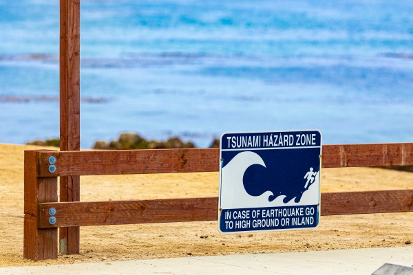 Monterey Peninsula   Tsunami Sign 1450 by @ThePhotourist