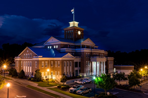 North Augusta Municipal Building at Night 5414 by @ThePhotourist