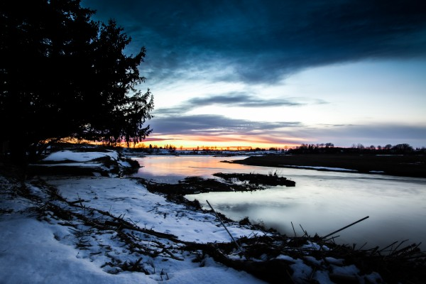 The Nith - Post Sunset by Victor Rose Photo