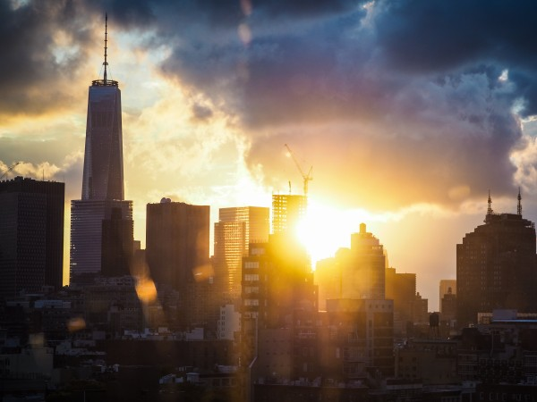 New York Sunset by Victor F Rodriguez Jr
