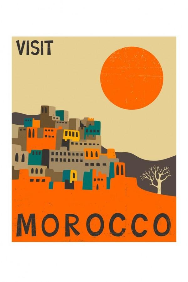 Oil Change Prices >> Visit Morocco vintage travel poster - VINTAGE POSTER - Canvas