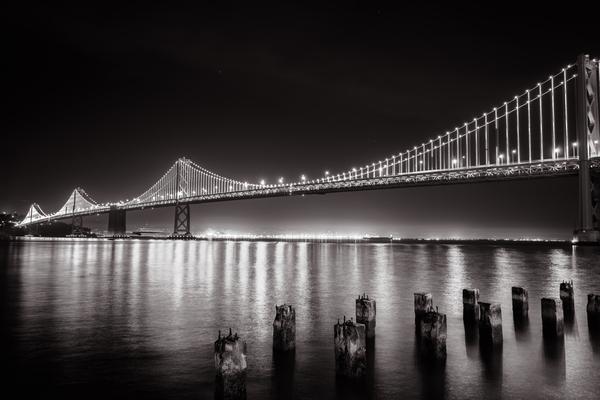 Bay Bridge Black & White Digital Download