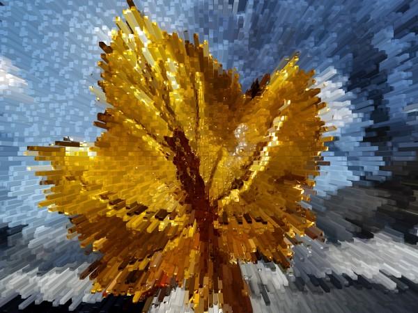 Gold Leaf by Yuliya Marusina