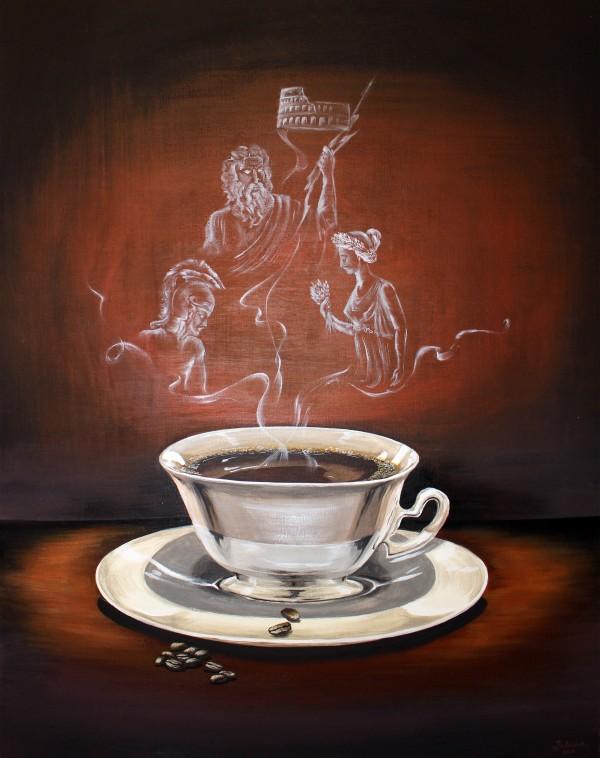 Coffee with Gods by Yuliya Marusina