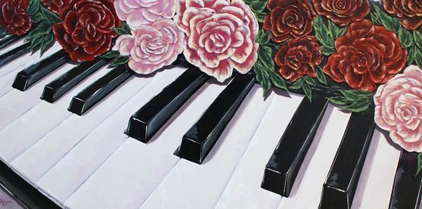 Piano Roses by Yuliya Marusina