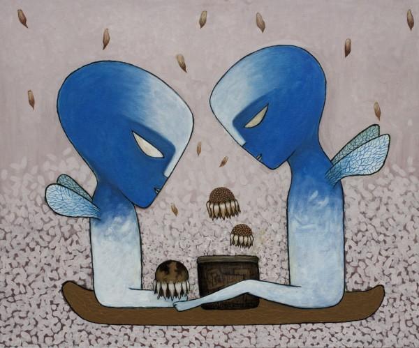 Alien Babies by carolenewmanarts