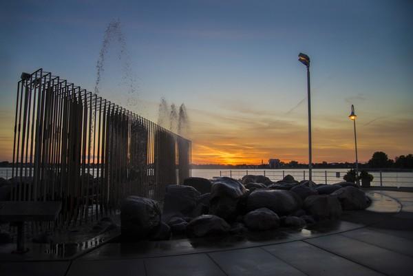 Fountain Sunset  Print