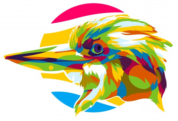 Giant Beak Bird Pop Art by wpaprint