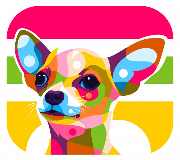 Chihuahua Puppy Pop Art by wpaprint