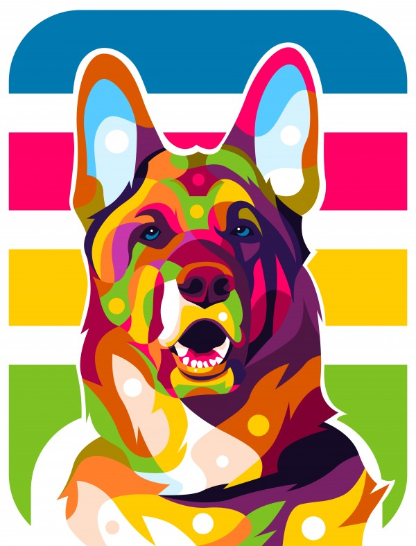 German Shepherd by wpaprint