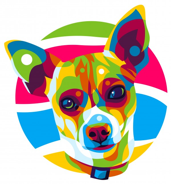 Chihuahua Pop Art by wpaprint