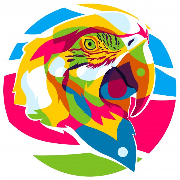 The Colorful Parrot by wpaprint