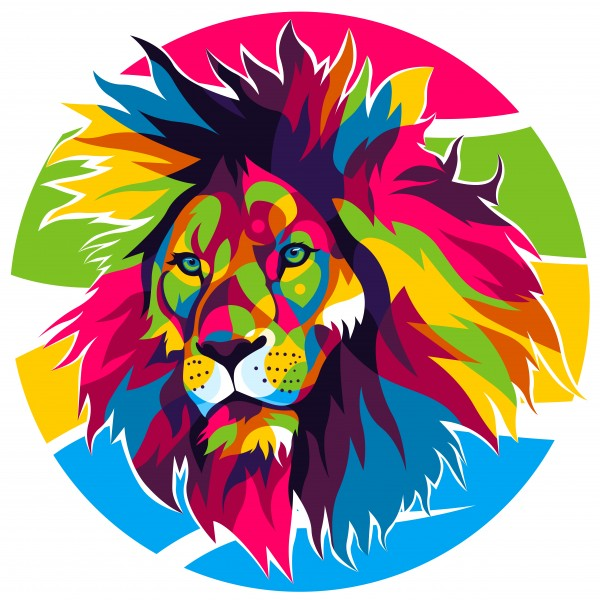 The Colorful Lion King by wpaprint