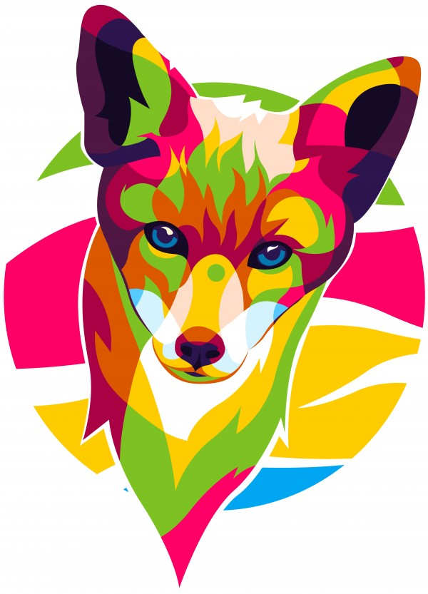 The Colorful Fox by wpaprint